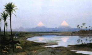 pyramids-at-sunrise-Gerome-1895